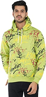 Urban Age Clothing Co. Men's Heavyweight Fleece All Over Graffiti Hoodie Sweatshirt for Winter Temperature 0 Degree to 25 ...