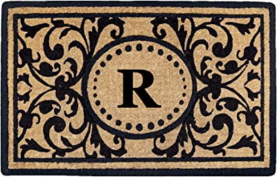 "Heavy Duty 18"" x 30"" Coco Mat Heritage, Monogrammed R"