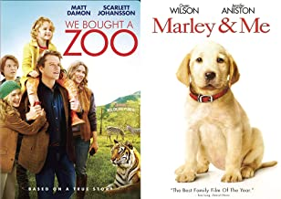 Comedy Family Animals Collection: We Bought A Zoo + Marley & Me (Double Feature Dvd Bundle)