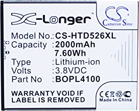 Cameron Sino 2000mAh Battery for HTC Desire 326G, Desire 526, Desire 526G+ Dual sim, HTCD100LVWP