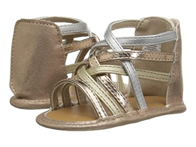 Baby Deer Strappy Crisscross Sandal Waddle (Infant) (Mixed Metallic) Girls Shoes