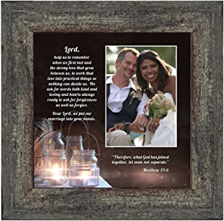 Personally Yours Marriage Prayer with Scripture, A Matthew Bible Verse, True Love Picture Frame, 10x10 6374BW