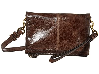 Frye Mel Stadium Bag (Dark Brown) Cross Body Handbags