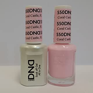 DND Daisy Duo Soak off Gel and Matching Nail Polish - 2016 Collection + Buy 2 colors get 1 FREE airbrush Stencil (550 - Coral Castle)