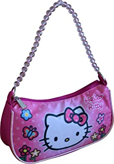 Hello Kitty Sanrio Handbag With Beaded Shoulder Handle