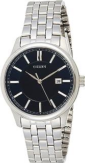 ساعة كوارتز للرجال من سيتيزن، شاشة عرض انالوج وسوار ستانلس ستيل - BI1050-56L