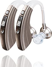 Britzgo BHA-220D (2 Pack) Silver Hearing Amplifier, Modern and Fashion Designed Adjustable Tube to Fit Both Ears, Silver/Gray