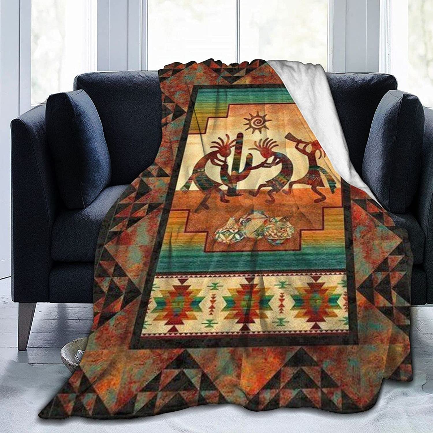 Inidan Native American Our shop OFFers the best service Kokopelli Ethnic Fl Pattern Aztec Flannel It is very popular