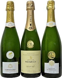 ワインセット フランス セレクション シャンパン製法 スパークリング白ワイン3本セット 750ml×3本