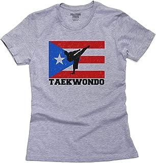 Hollywood Thread Puerto Rico Olympic - Taekwondo - Flag Women's Cotton T-Shirt