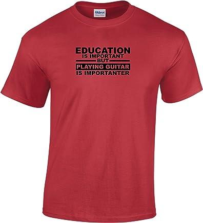 tedim® is T-Camiseta en Soporte de Aviso de Sol Tocando la Guitarra de