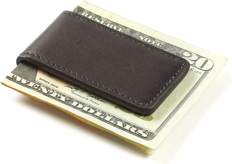 Leatherology Black Oil Men's Magnetic Money Clip