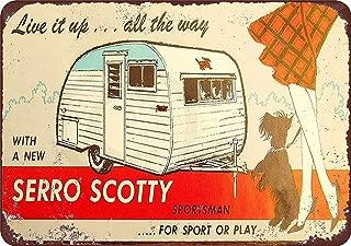TiuKiu Serro Scotty Trailers Vintage Look Reproduction Metal Sign 8 x 12