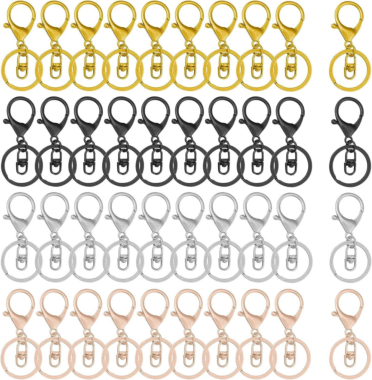 40pcs 4 years warranty Lobster Claw Clasps Keychain Metal Jewelry latest Making for Swiv