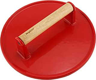 Berghoff Cast Iron Steak Press - Red