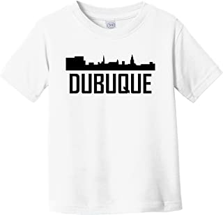 Dubuque Iowa Skyline Silhouette Infant Toddler T-Shirt