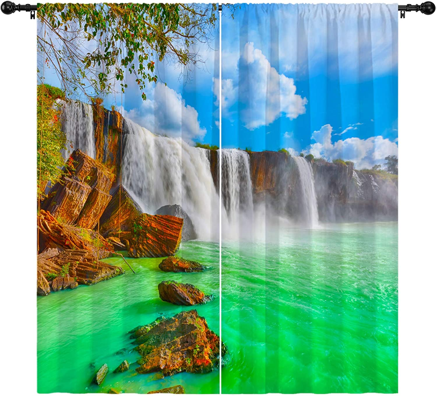 Landscape Curtains The Beautiful Wat Drenur of Natural Free shipping New Max 54% OFF