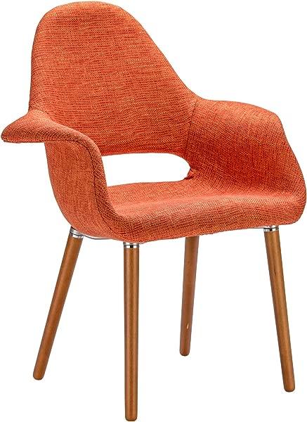 橙色聚树皮巴克利餐椅