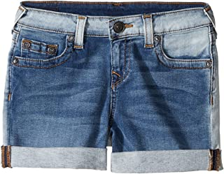 [トゥルーレリジョン] True Religion Kids ガールズ Audrey Boyfriend Shorts in Side Car Blue (Big Kids) パンツ [並行輸入品]