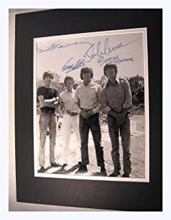 Beatles Circa 1960,s 11x14 Double Matted 8x10 Photo Print John Lennon Ringo Paul Mccartney George Harrison Reprint Signatures Autograph
