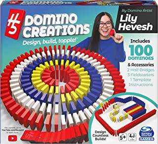 Spin Master Games H5 Domino Creations 100-Piece Set by Lily Hevesh, for Families and Kids Ages 5 and up
