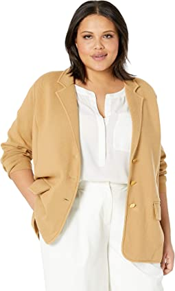 Plus Size Cotton Blazer