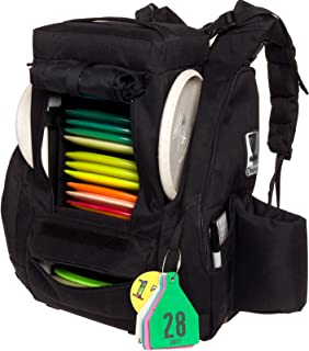 disc golf backpack with built-in seat