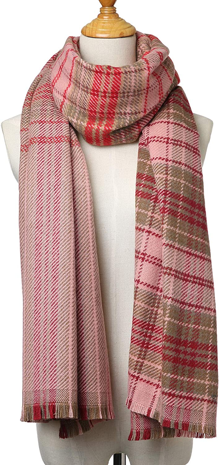 Women's Winter Cashemere Scarf Soft Blanket Warm Soft Large Plaid Wrap