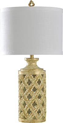 Collective Design L315015ADSAM Morocaan Sunshine Yellow, Ivory Belle,Santo Cristo, White Table Lamp