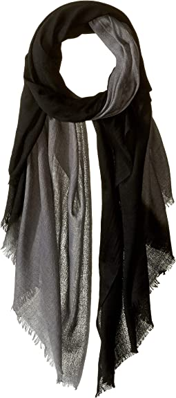 Travel Weight Cashmere Dip-Dye Wrap Scarf