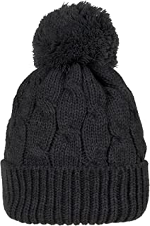 WITHMOONS Knitted Twisted Cable Bobble Pom Beanie Hat Slouchy AC5474