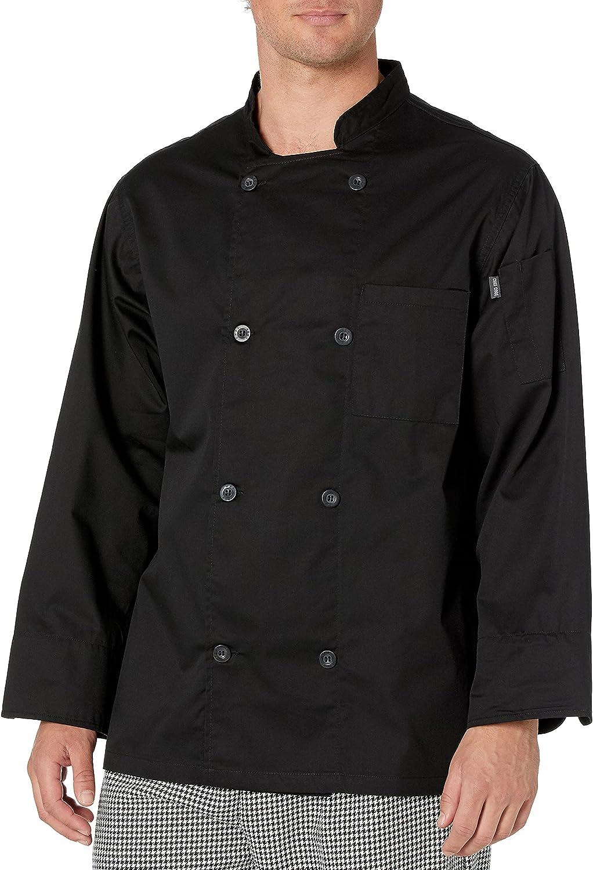 Chef Discount mail order Code Men's 8 Ultra-Cheap Deals Button Pearl Coat