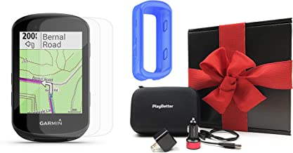 Garmin Edge 530 Cycle GPS Gift Box Bundle with PlayBetter Silicone Case, Screen Protectors, Car/Wall Adapters & Hard Carry...