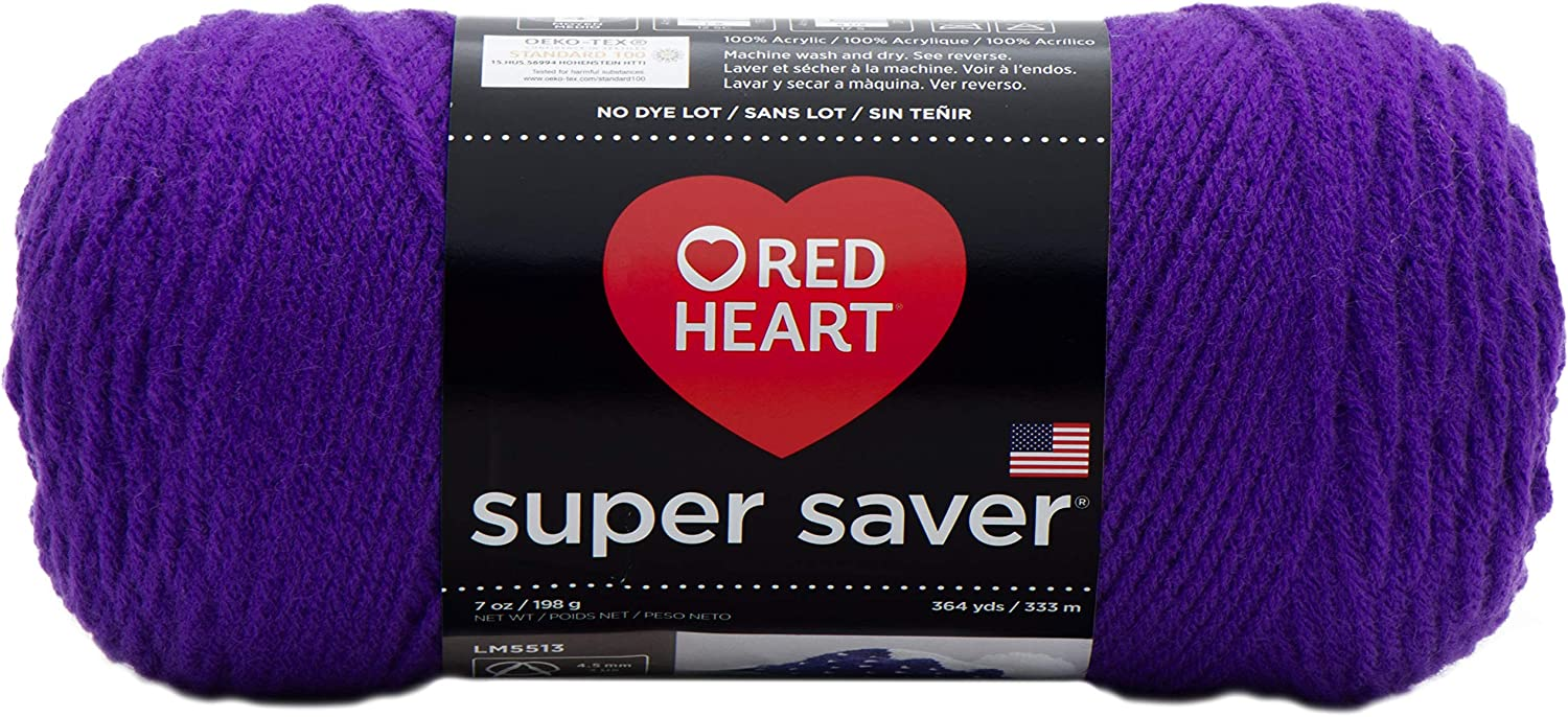 Red Heart Super Saver Amethyst E300-356 Yarn 3-Pack Weekly update Max 47% OFF
