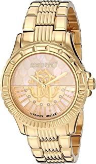 Roberto Cavalli Women's RC-23 Quartz Watch with Stainless Steel Strap, Silver/Rose Gold, 16 (Model: RV2L014M0076)