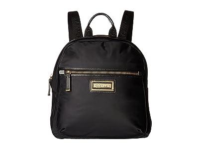 Calvin Klein Belfast Dressy Nylon Backpack (Black/Gold) Backpack Bags