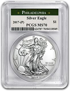 2017 silver eagle ms70 philadelphia