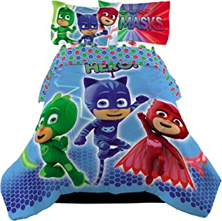 5 Piece Full Size PJ Masks Bedding Set Includes 4pc Full Sheet Set And T/Full Comforter