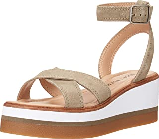 Lucky Brand Women's TARHI Wedge Sandal, FOSSILIZED, 7