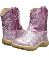 Roper Kids - Pink Checkerboard Glitter Print (Infant/Toddler)