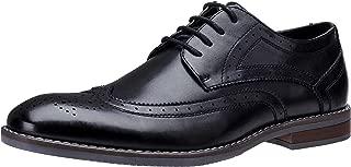 Men's Oxford Shoes Classic Wingtip Brogue Derby Shoe Uniform Dress Shoes Lace Up Formal Business Shoes Wedding Oxfords for Men