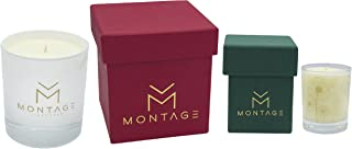 Montage Lifestyle Soy Wax Candle Gift Set - Passion - Aromatherapy Candles for Sensual + Calming with 100% Pure Essential Oils- Handmade in Greece