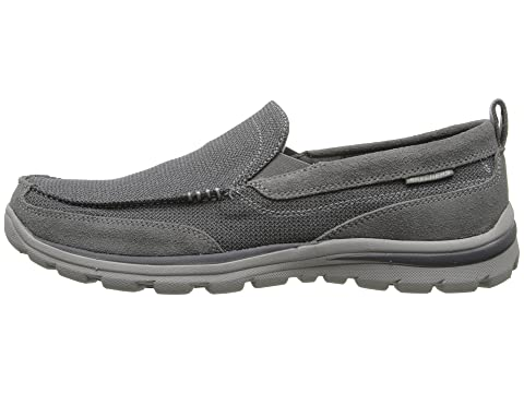 Brown Relaxed BlackCharcoal Superior Fit SKECHERS Milford GreyLight gqxFYwd