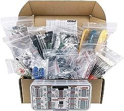 Interstellar Electronic Components Assortment Kit, Grab Bag, Resistors, Polyester Capacitors, LED, PCB, Diodes, Transistors, IC, 2000 pcs