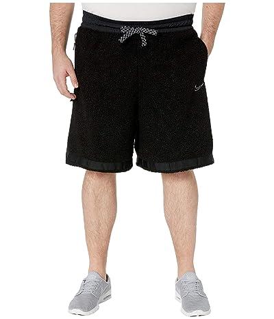 Nike Big Tall Cozy DNA Shorts (Black/Smoke Grey) Men