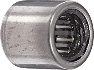 INA HK08122RS Needle Roller Bearing, Caged Drawn Cup, Outer Ring and Roller, Steel Cage, Open End, Double Sealed, Metric, 8mm ID, 12mm OD, 12mm Width, 20000rpm Maximum Rotational Speed
