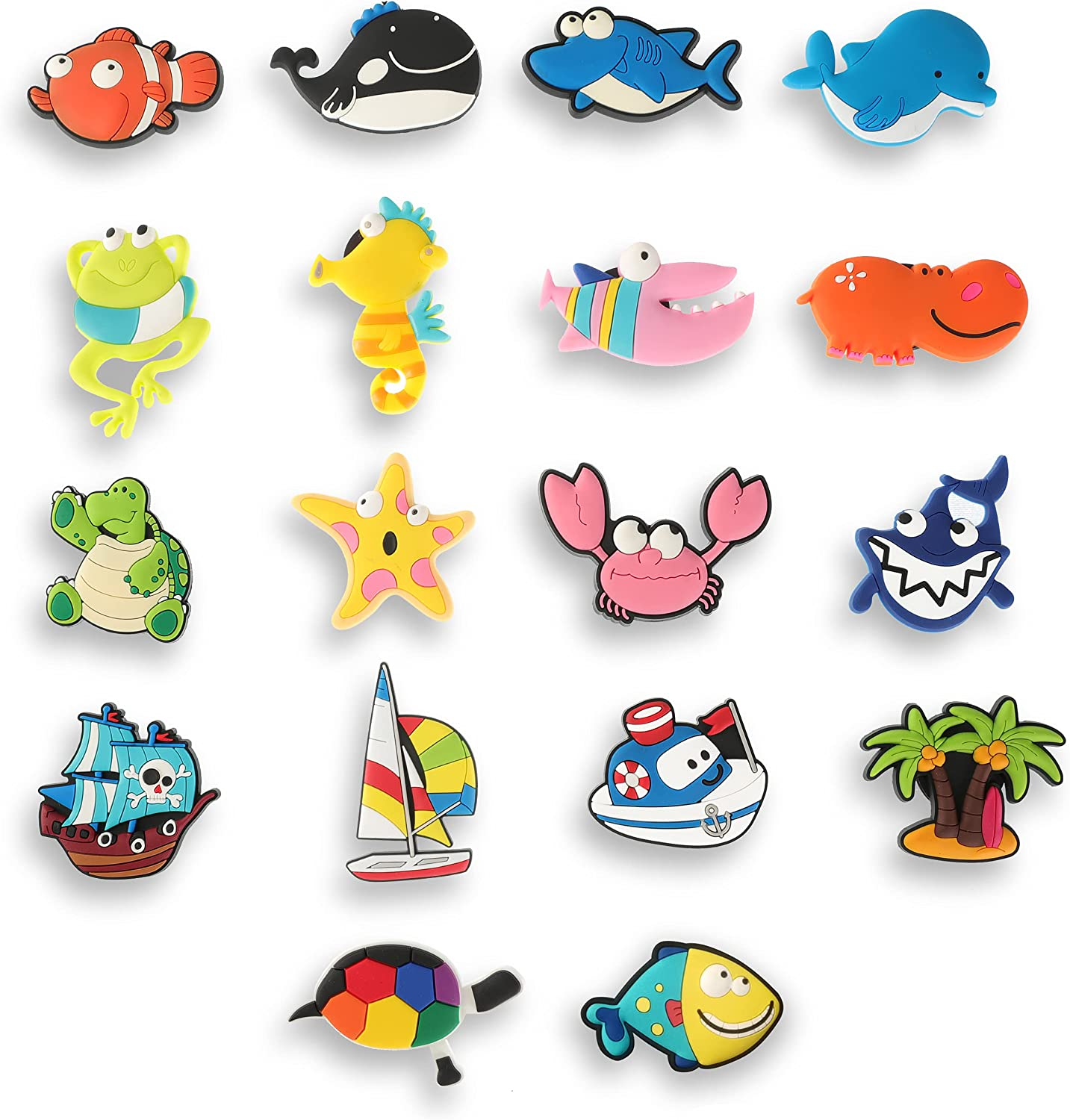 Max 48% OFF Fridge Magnets for Kids Memphis Mall 18 Magne Animals Pack Sea