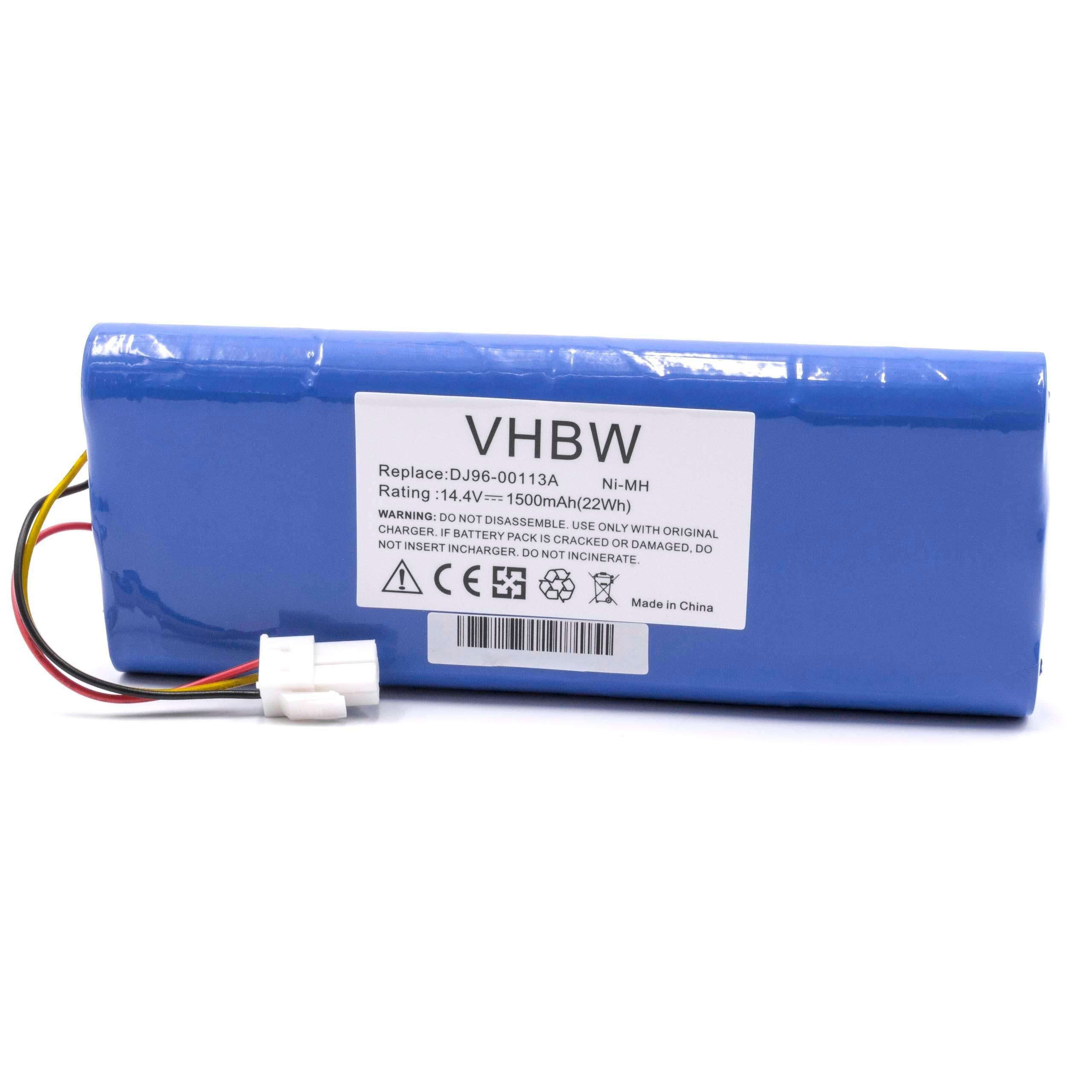 vhbw batería compatible con Samsung Navibot SR9630, VC-RA50VB, VC-RA52V, VC-RA84V, VC-RE70V, VC-RE72V robot autónomo de limpieza 1500mAh, 14.4V, NiMH: Amazon.es: Hogar