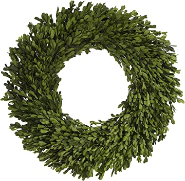 AC 22 Inch Real Boxwood Wreath- Preserved