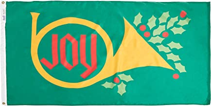 product image for Annin 379362 Flagmaker Joy Horn NYL-Glo Holiday Flag, 3 by 5-Feet